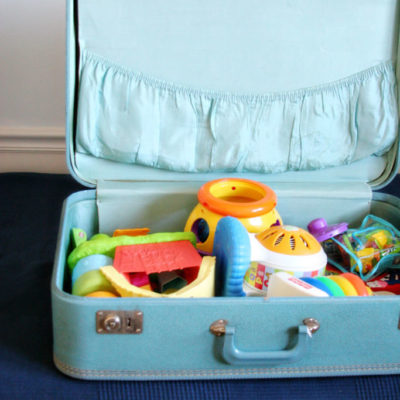 A Simple Tip // Vintage Suitcases as Storage