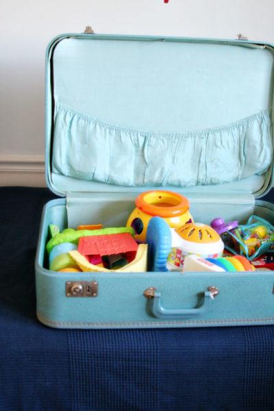A Simple Tip // Vintage Suitcases as Storage