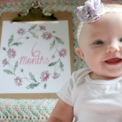 DIY Monthly Baby Photos