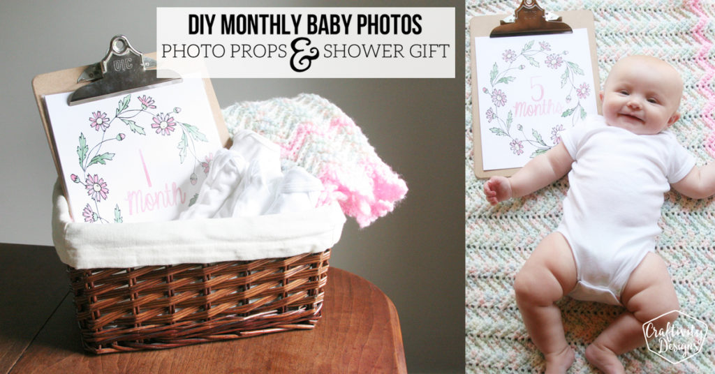 diy monthly baby photos photo prop shower gift FB