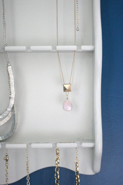 DIY Thrifted Jewelry Organizer