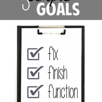 Making Simple Goals // Week #5