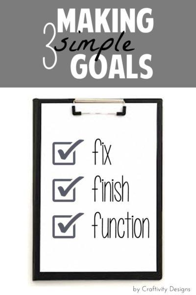 Making Simple Goals // Week #5