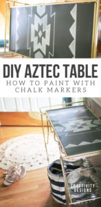 DIY Aztec Table, Painted Furniture Ideas, How to Paint with Chalk Markers, Repurposed Furniture, Vintage Furniture Makeover, #aztec #paintedfurniture #repurpose
