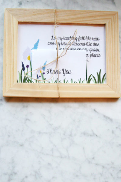 Teacher Appreciation Gift & Gift Card Holder // FREE Printable