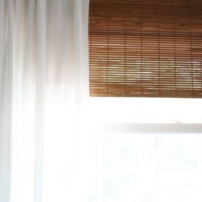 Faux Bamboo Blinds // A Semi DIY