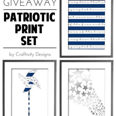 Patriotic Print Set // July Giveaway