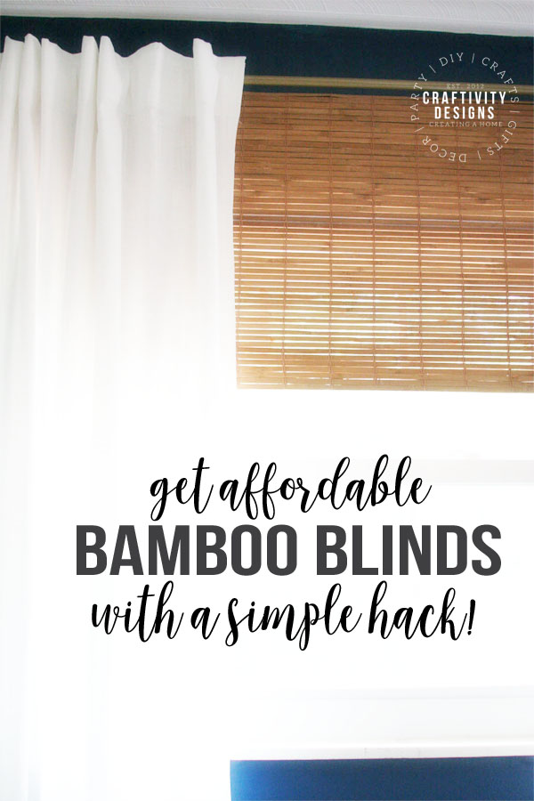 bamboo blinds, bamboo roman shades, faux, hack