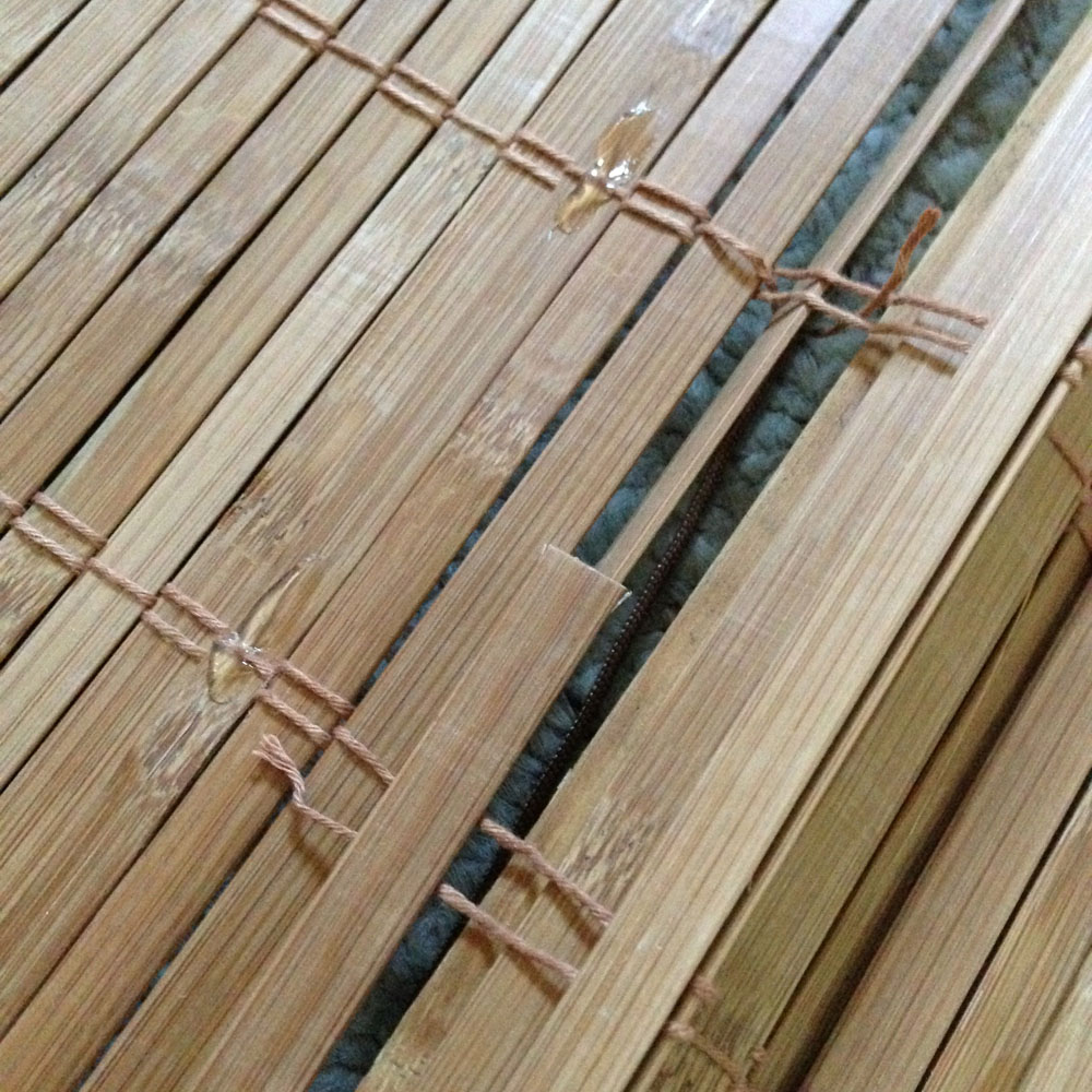 removing extra slats on diy bamboo blinds