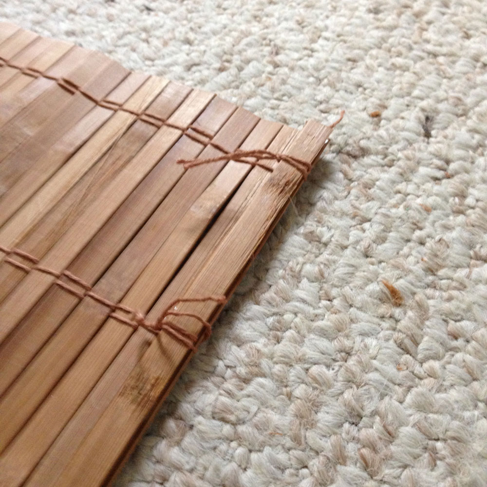 adding excess slats to the diy bamboo blinds