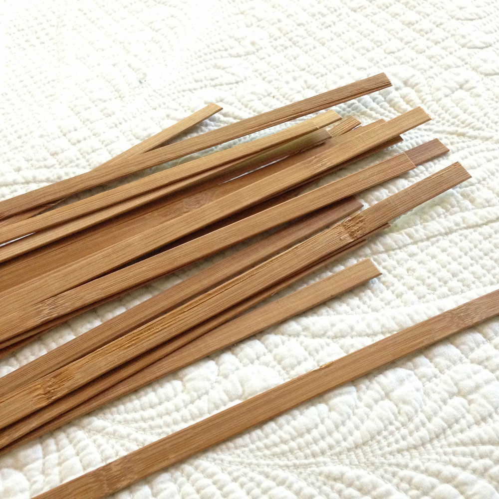 extra slats from diy bamboo blinds