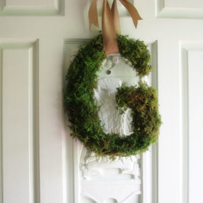 """Moss Covered Letter """"Wreath"""" for the Front Door"""