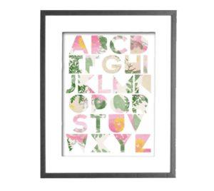 Modern Floral Alphabet // Craftivity Designs