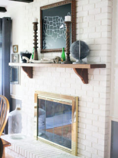 How to Brighten a Dark Fireplace with Paint - After