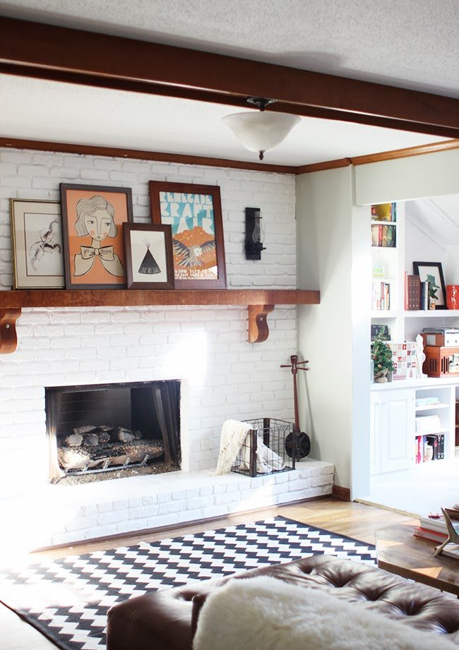 How to Paint a Brick Fireplace (and the Best Paint to Use ... on Brick Painting Ideas  id=82752