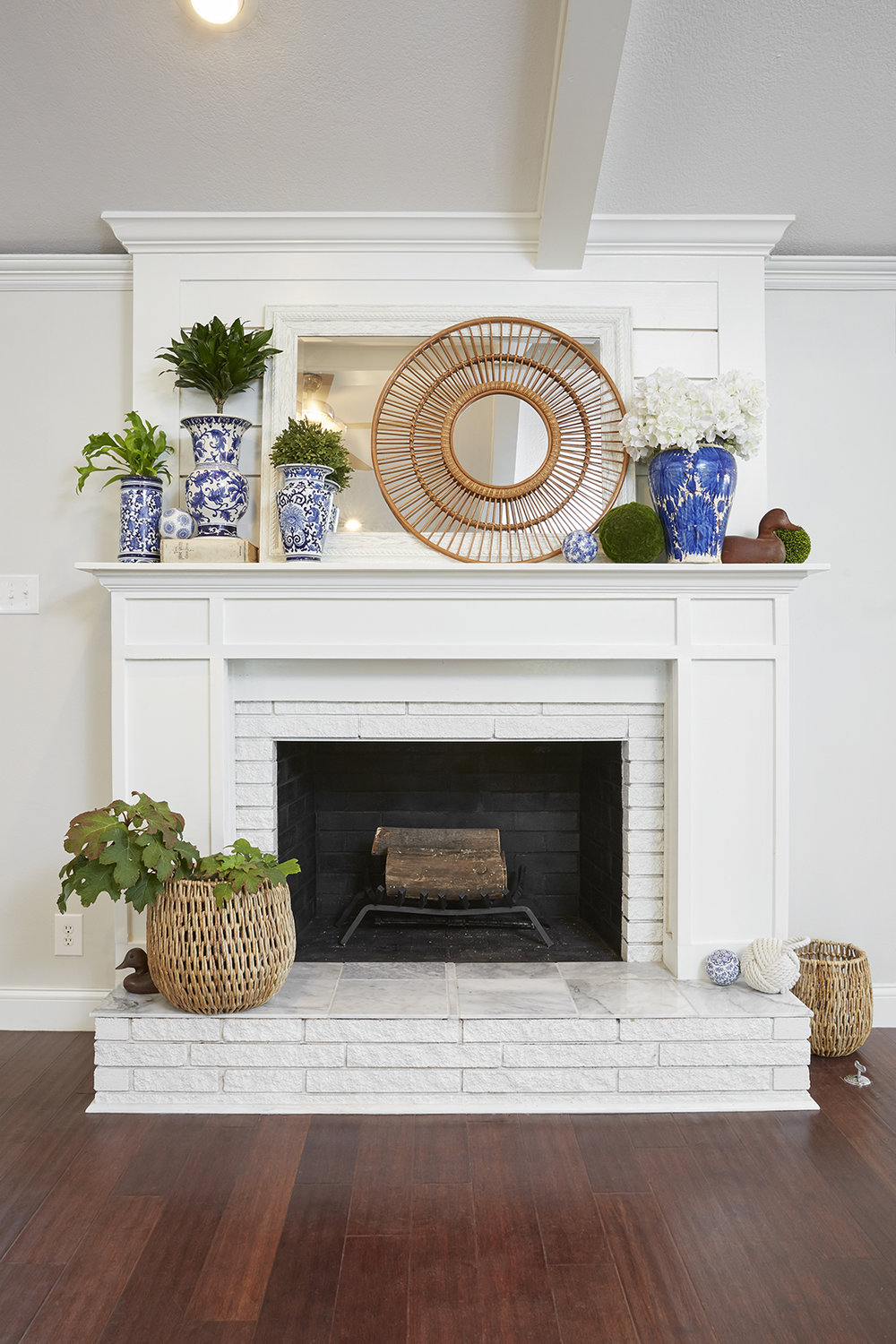 How to paint a brick fireplace and the best paint to use for Colors to paint a fireplace