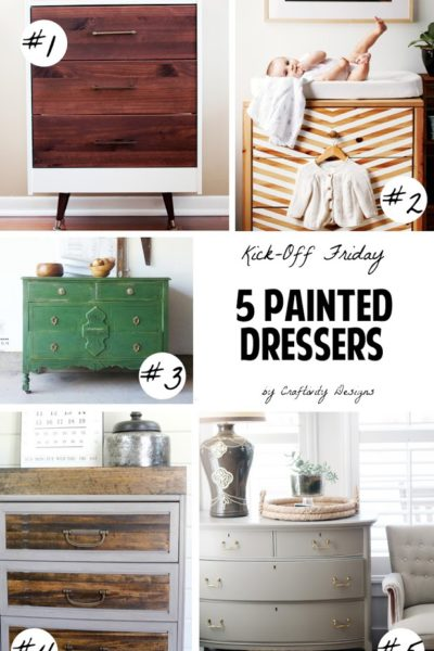 5 Beautiful Painted Dressers | Update Your Old Furniture