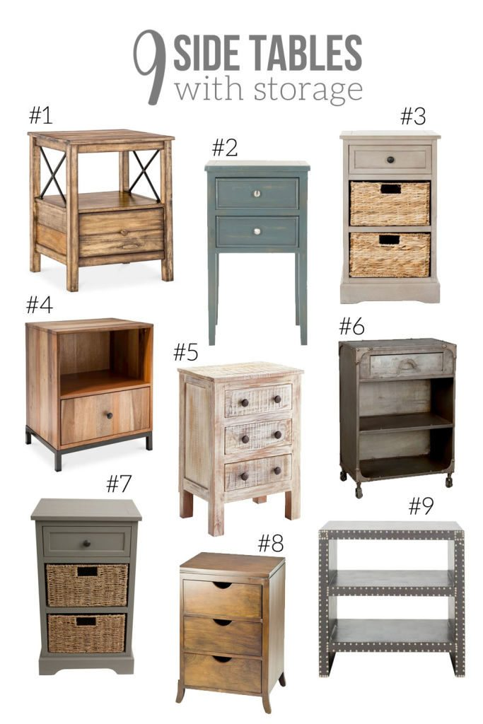 9 side tables with storage night stand nightstand end table
