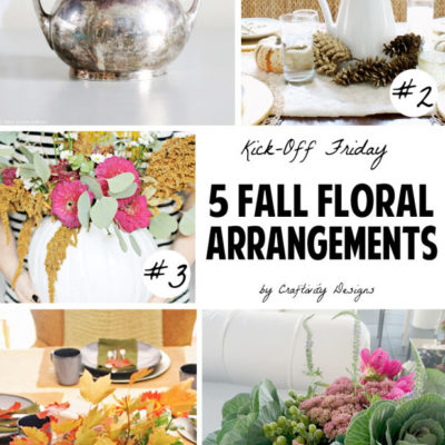 Kick Off Friday // 5 Fall Floral Arrangements