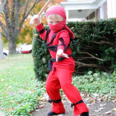 No-Sew Ninja Costume