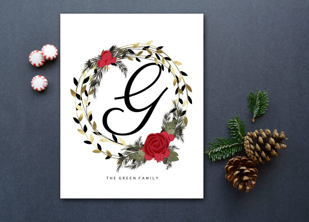A modern and affordable personalized Christmas gift. I love the mix of black, gold and red! Available in printable & print forms.