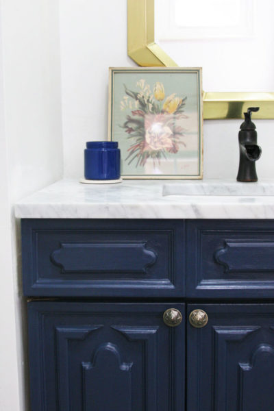 12 Navy Painted Furniture Makeovers