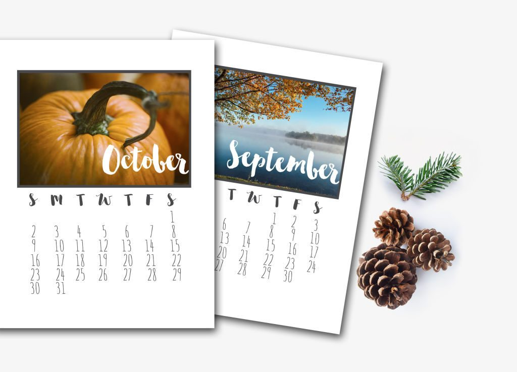 Print this 2016 Calendar, package it beautifully {maybe with a clipboard, large metal clips, or wrapped in twine} and give it to everyone on your list! I love the modern feel of the black and white, that lets the seasonal photos shine.