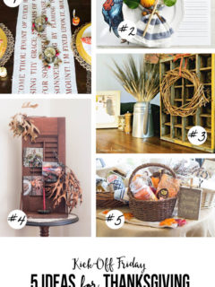5 Ideas for your 2015 Thanksgiving Celebration -- for the hostess, the guests and the kids! Plus, get 2 free printables to help celebrate.