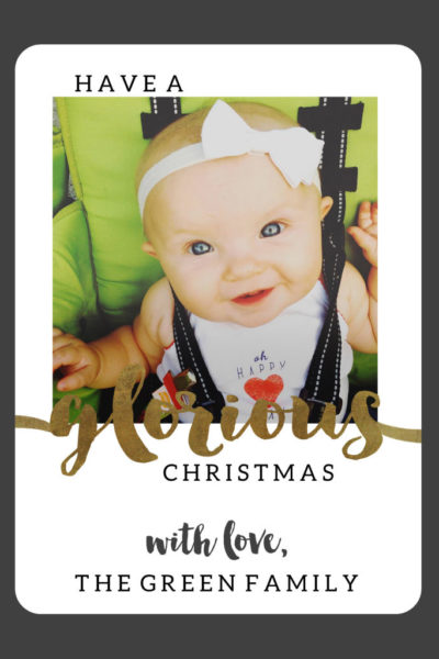 No Photo Shoot Needed // An Instagram Christmas Card