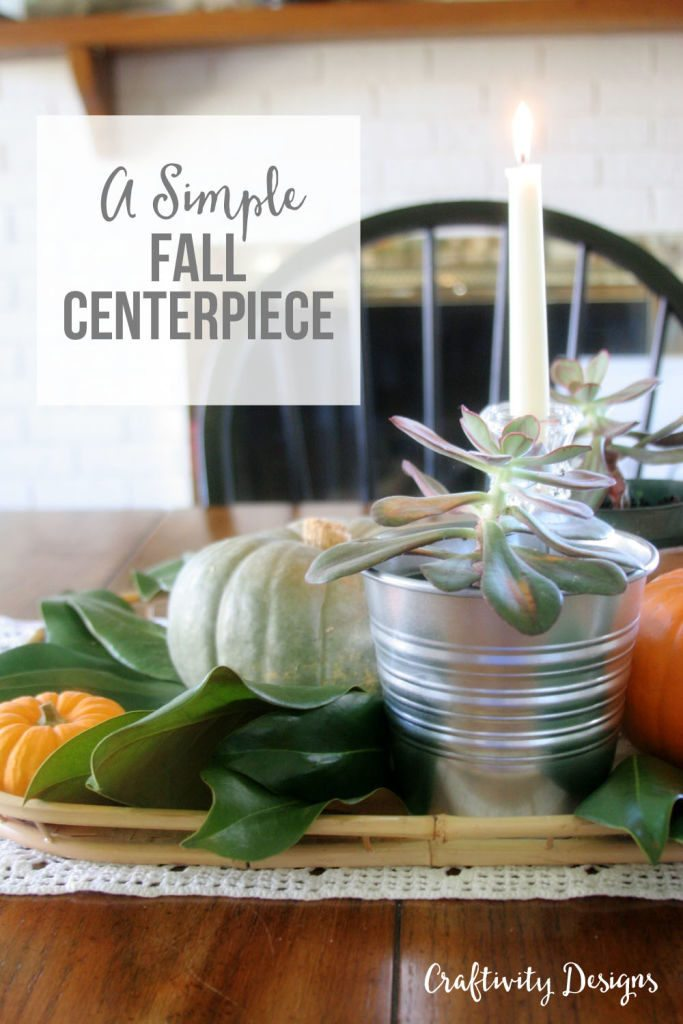 This is such a quick and inexpensive centerpiece for Thanksgiving! Pumpkins, succulents and more... get the details from @craftivityd