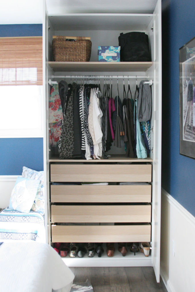 Wardrobes or dressers working with a small closet craftivity designs for Bedroom closet organizers ikea