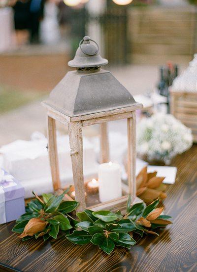 magnolia leaves lantern