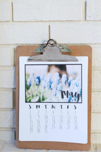 Last Minute Gift // 2016 Printable Calendar