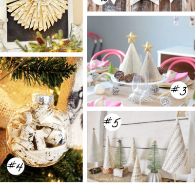 5 Music Sheet Crafts for Christmas