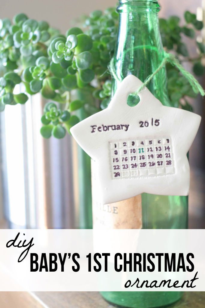 DIY Baby's First Christmas Ornament -- So Sweet!! A handmade gift by @CraftivityD