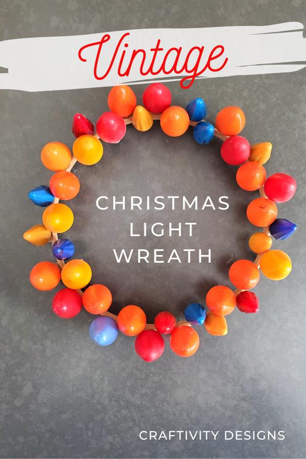 Vintage Christmas Light Wreath