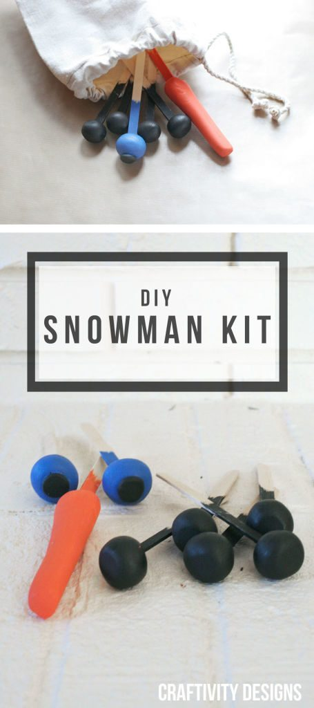 A DIY Snowman Kit that you can make with your kids {or give them as a Christmas gift!} by @CraftivityD