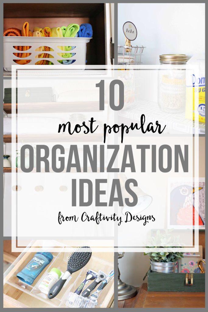 10 most popular organization ideas from @craftivityd