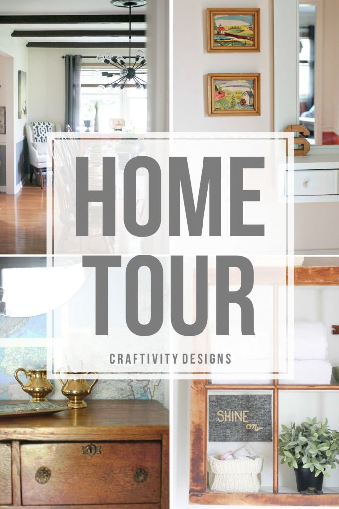 A home is a place to create the story of your family. Home Tour by @CraftivityD