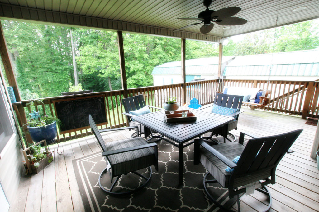 Deck Makeover, Outdoor Decor by @CraftivityD
