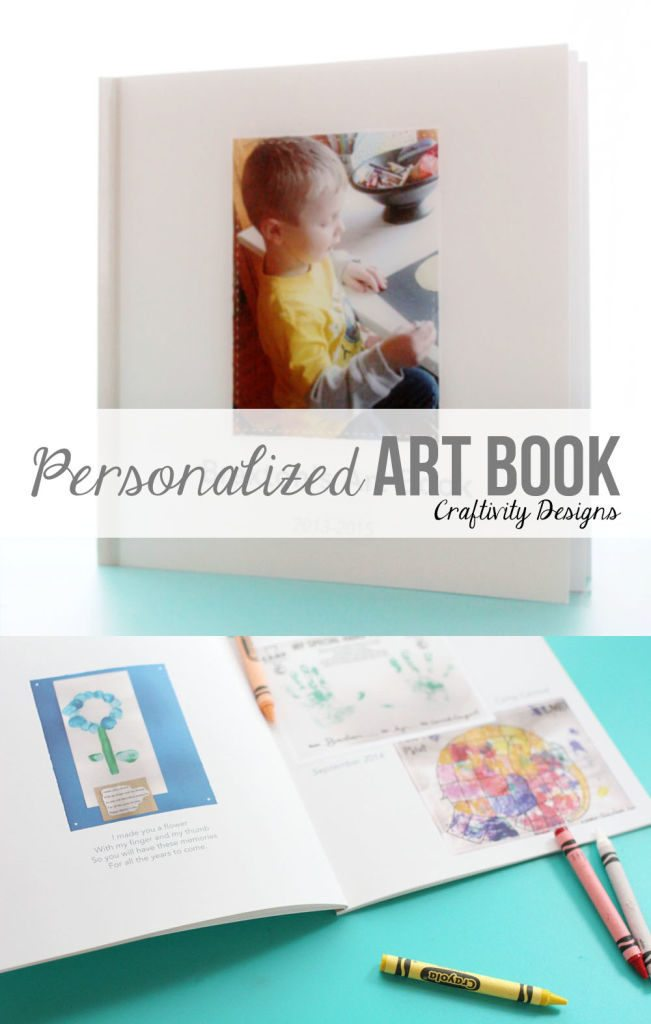 Organize your child's art with a Personalized Art Book by @CraftivityD