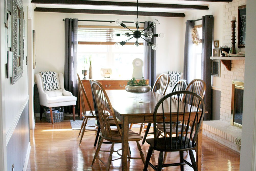 Dining Room Decor, Light & Bright Eclectic Home Tour by @CraftivityD