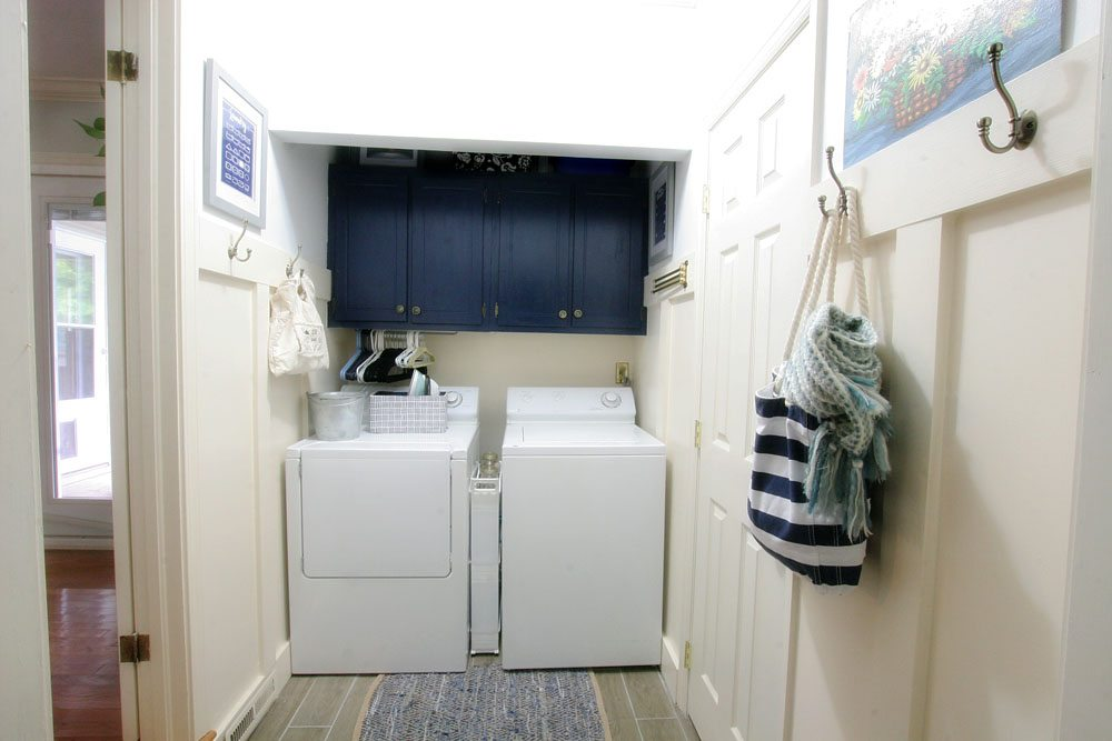 Laundry Room Makeover, Light & Bright Eclectic Home Tour by @CraftivityD