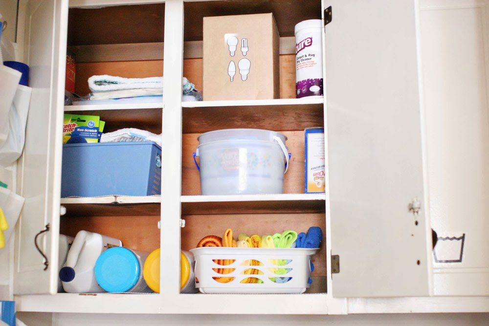 10 Most Popular Organization Ideas - #10 Organize the utility closet, laundry and cleaning supplies - by @CraftivityD