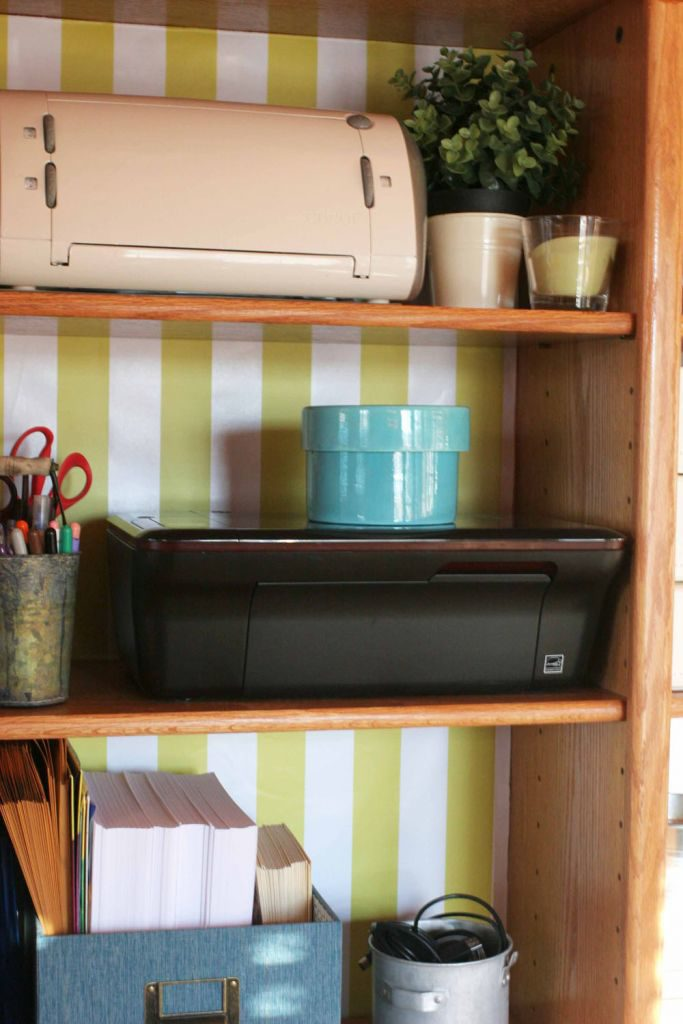 Office bookcase and makeover progress. Light & Bright Eclectic Home Tour by @CraftivityD