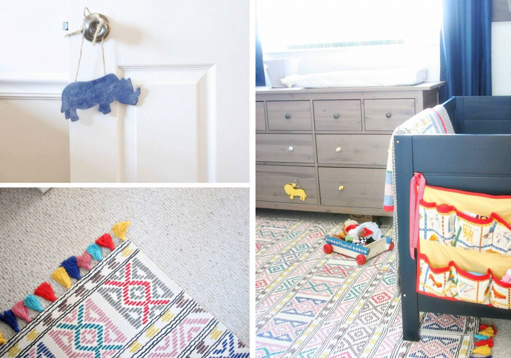 Shared bedroom makeover for baby & child. Colorful and plenty of toy storage. Light & Bright Eclectic Home Tour by @CraftivityD