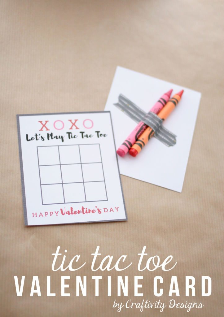 Printable Tic Tac Toe Valentine Card