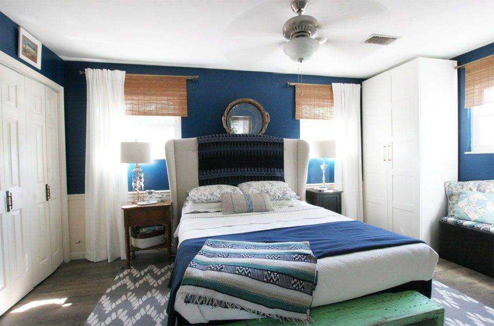 Master Bedroom, Light & Bright Eclectic Home Tour by @CraftivityD