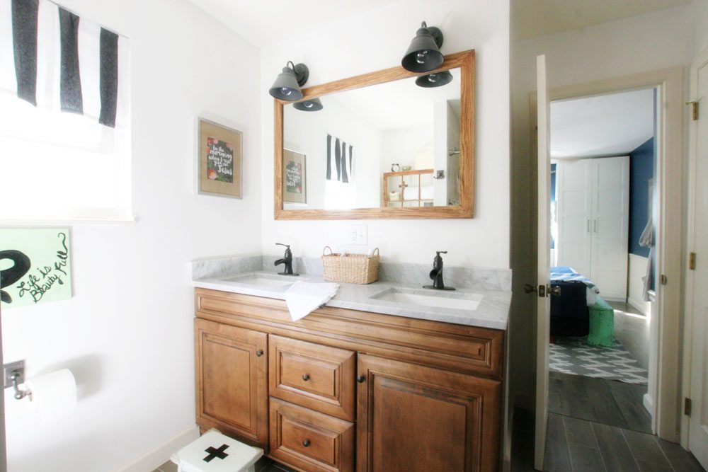 Master Bath, Bathroom Renovation, Light & Bright Eclectic Home Tour by @CraftivityD