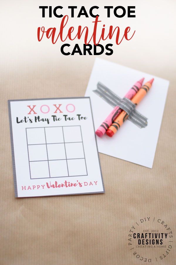 Tic Tac Toe Valentine Cards